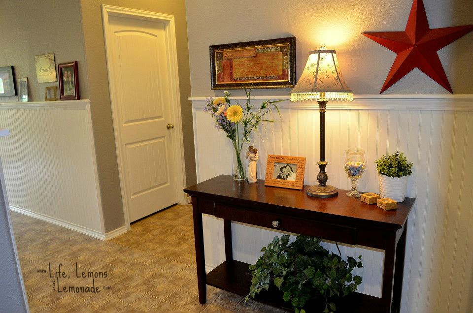 House Tour: Oatmeal Drive - Entry Hall Table Staging