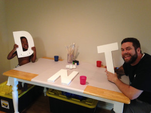 Painting Canvas Letters