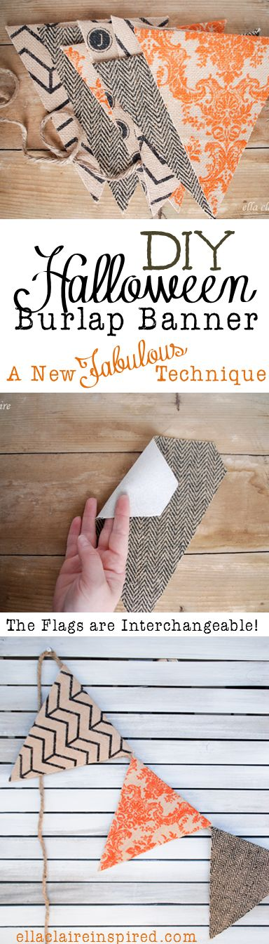 Burlap Banner is perfect for fall decor inspiration