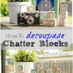 How To Decoupage Wooden Chatter Blocks