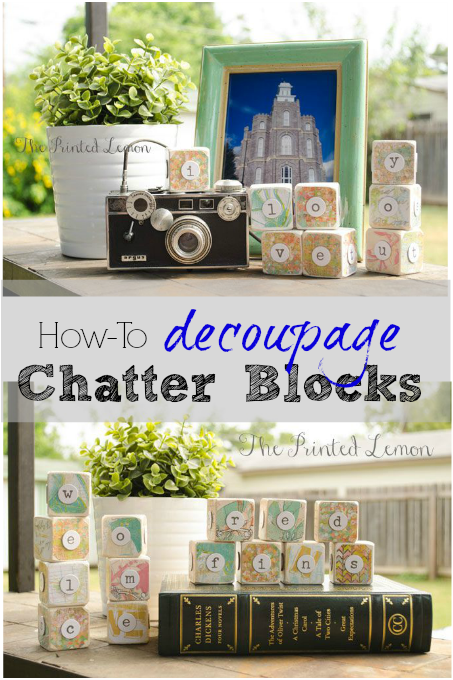 Decoupage Wooden Chatter Blocks