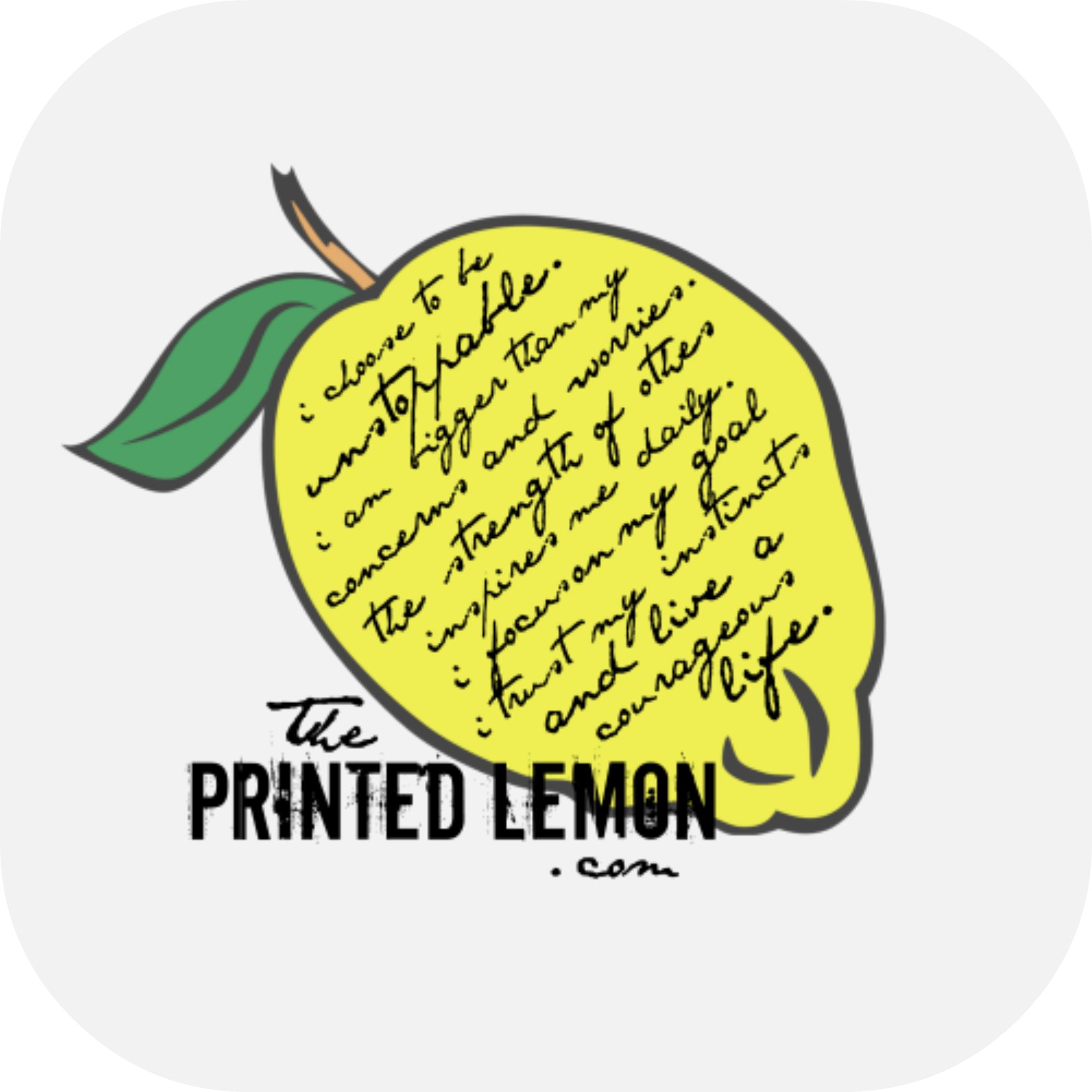 the printed lemon on etsy