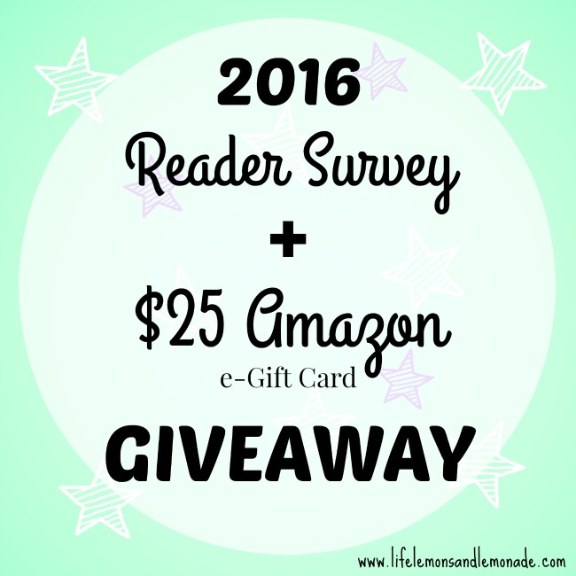 2016 Reader Survey & Amazon Gift Card Giveaway