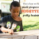 How We Finally Made Progress With Nighttime Potty Training